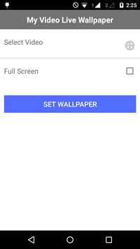 Video Live Wallpaper HD apk screenshot