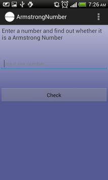 Armstrong Number apk screenshot