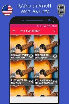 New York 92.3 AMP WBMP Fm Radio Stations HD live poster