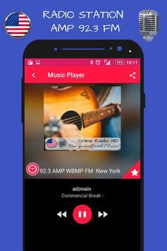 New York 92.3 AMP WBMP Fm Radio Stations HD live screenshot 1