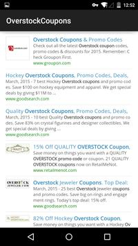 Coupons for Overstock poster