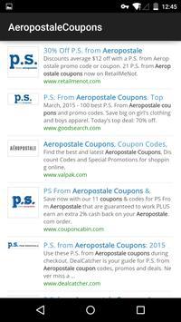 Coupons for Aeropostale apk screenshot