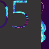 Neon Girl Xperia Theme icon