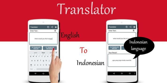 Indonesian English Translator poster