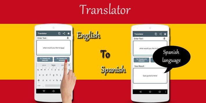 Spanish English Translator apk screenshot