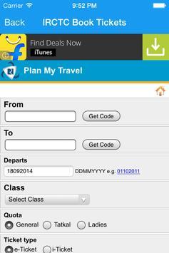 IRCTC Book Tickets screenshot 4