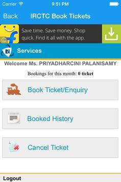 IRCTC Book Tickets screenshot 3