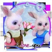 Valentines Rabbits Story icon