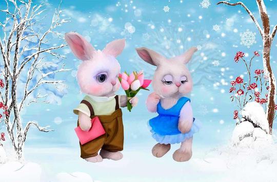 Valentines Rabbits Story apk screenshot