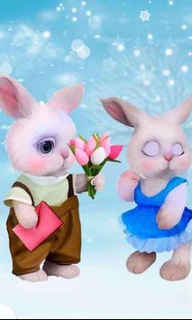 Valentines Rabbits Story poster