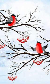 Winter Bullfinch HD LWP poster