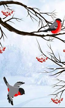 Winter Bullfinch HD LWP apk screenshot