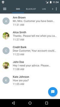 Bloqueador de llamadas y SMS - Calls Blacklist captura de pantalla 5