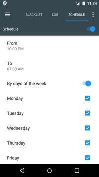 Bloqueador de llamadas y SMS - Calls Blacklist captura de pantalla 6
