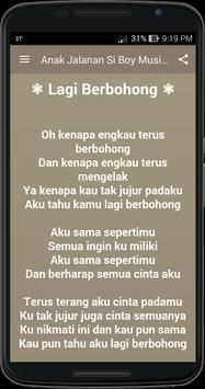 Anak jalanan boy musik lirik screenshot 1