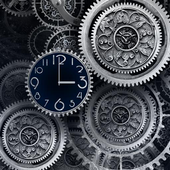 FREE Black Clock LiveWallpaper icon