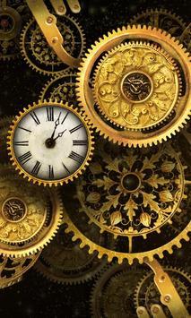 FREE Gold Clock Live Wallpaper poster