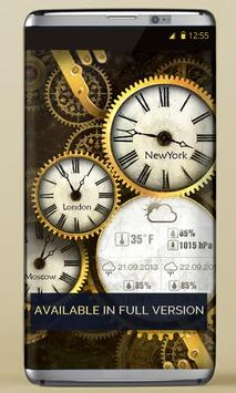FREE Gold Clock Live Wallpaper apk screenshot