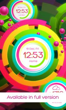Rainbow clock live wallpaper screenshot 1