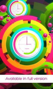 Rainbow clock live wallpaper screenshot 2