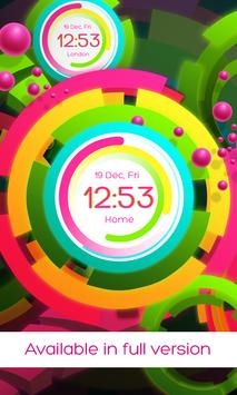 Rainbow clock live wallpaper screenshot 4