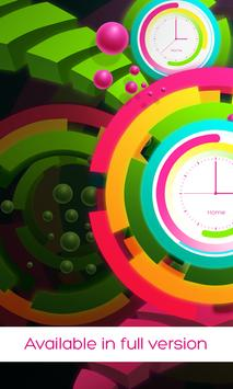 Rainbow clock live wallpaper screenshot 5