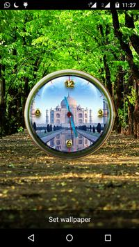 Tajmahal Clock Live Wallpaper poster
