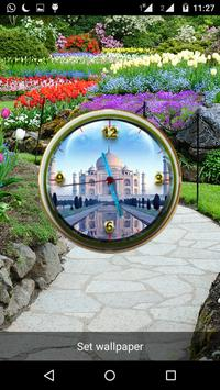 Tajmahal Clock Live Wallpaper apk screenshot