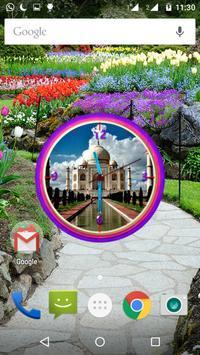 Tajmahal Clock Live Wallpaper apk screenshot