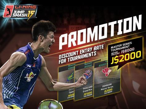 LiNing Jump Smash 15 Badminton poster