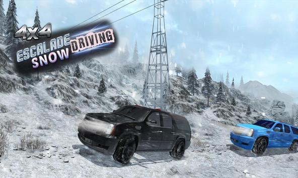 4x4 Escalade Snow Driving 3D poster