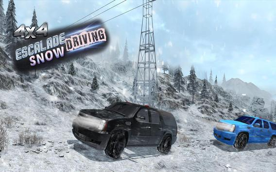 4x4 Escalade Snow Driving 3D screenshot 14