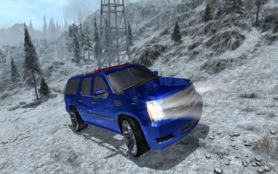 4x4 Escalade Snow Driving 3D screenshot 19