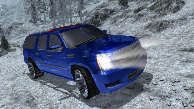 4x4 Escalade Snow Driving 3D screenshot 12