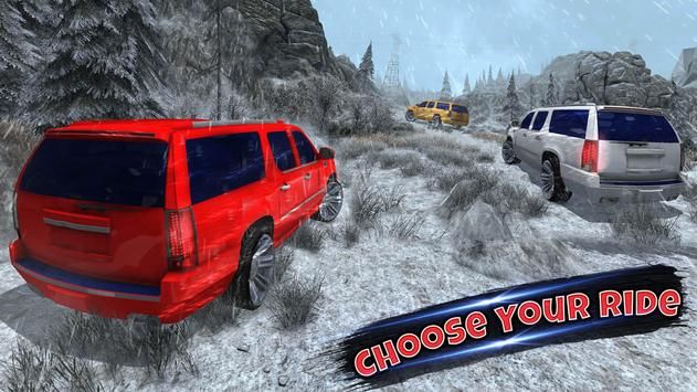4x4 Escalade Snow Driving 3D screenshot 13