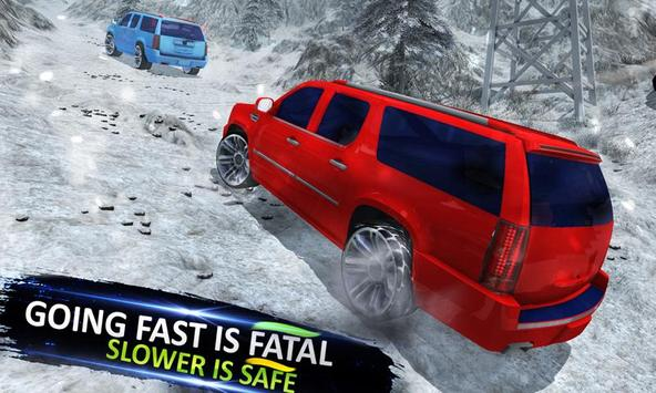4x4 Escalade Snow Driving 3D screenshot 1