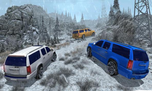 4x4 Escalade Snow Driving 3D screenshot 3