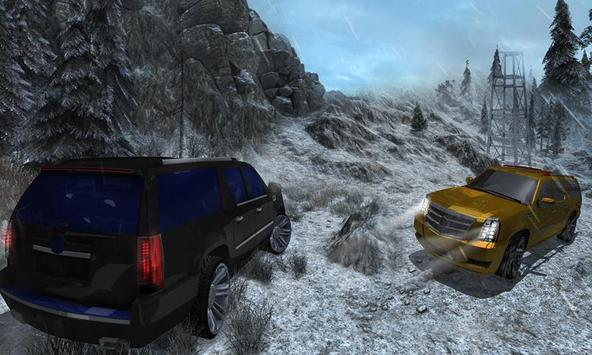 4x4 Escalade Snow Driving 3D screenshot 4