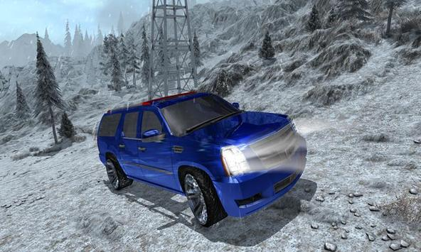 4x4 Escalade Snow Driving 3D screenshot 5