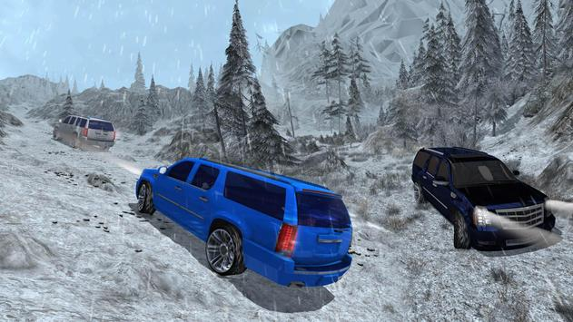 4x4 Escalade Snow Driving 3D screenshot 9