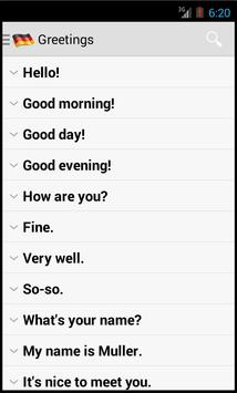 German Useful Phrases apk screenshot