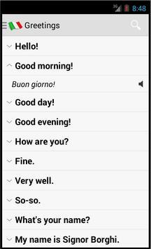 Italian Useful Phrases apk screenshot
