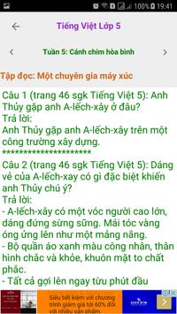 Tieng Viet Lop 5 screenshot 4