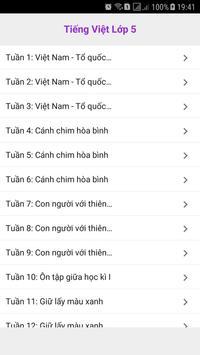 Tieng Viet Lop 5 screenshot 3