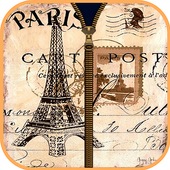 Cute Paris Zipper Screen Lock icon