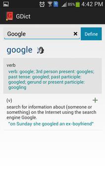 GDict - Google Dictionary screenshot 2
