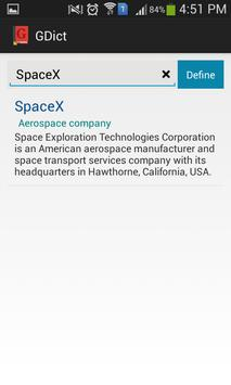 GDict - Google Dictionary apk screenshot