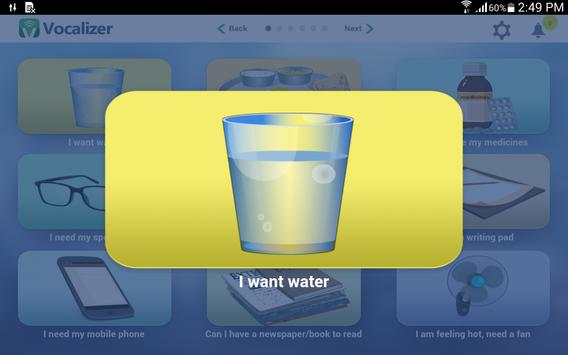 Vocalizer for Patients apk screenshot