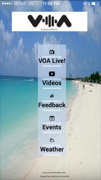 Voice of Aruba VOA poster