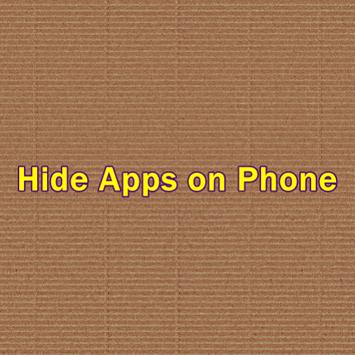 Hide Apps on Phone poster
